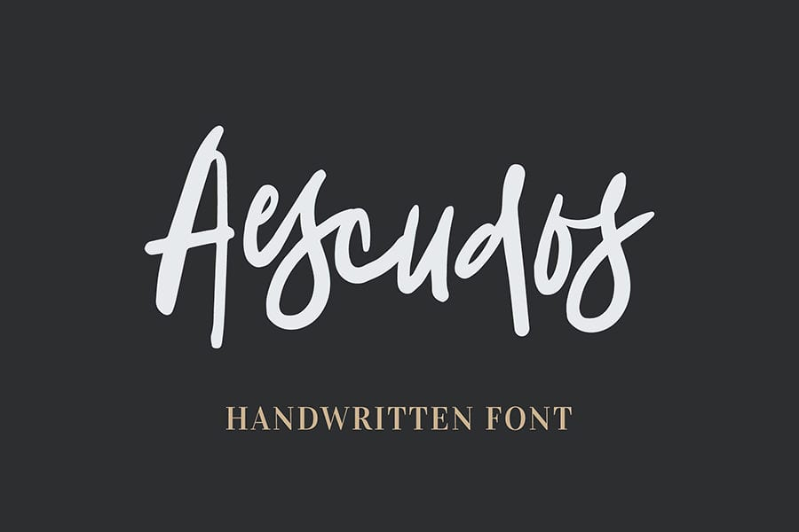 Aescudos Free Handwriting Fonts