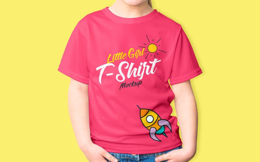 Little Girl T Shirt Mockup PSD Responsive Joomla And Wordpress Themes