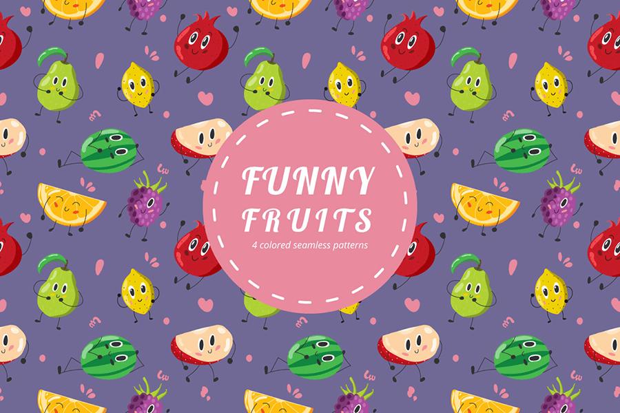 Funny Free Fruit Pattern