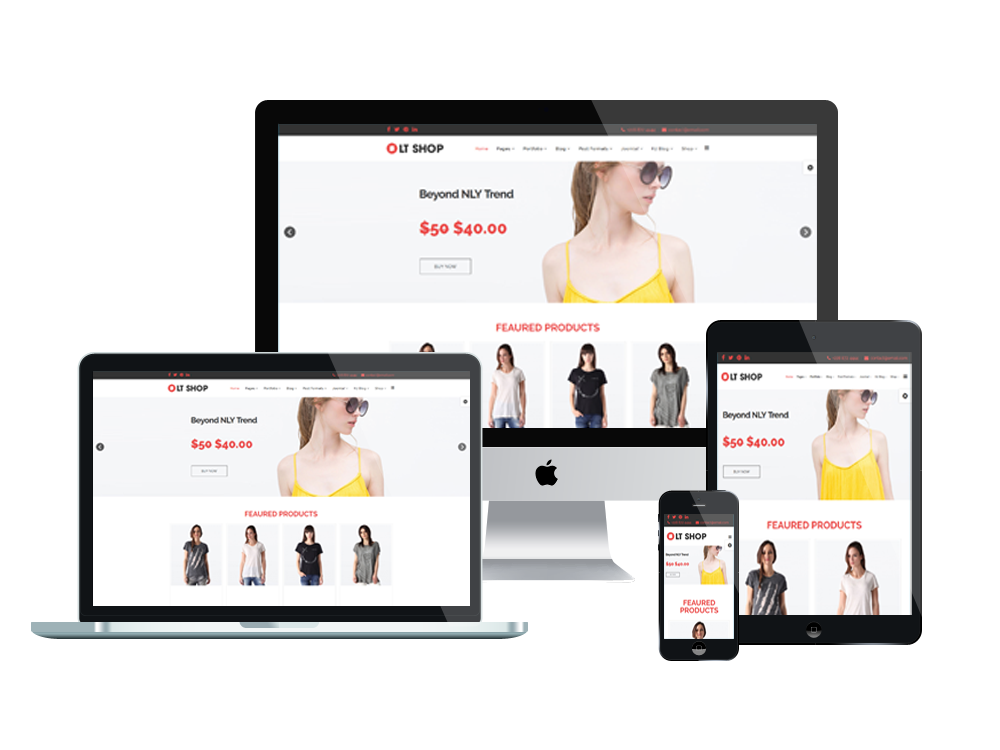 1. LT Shop - Free Online Store, Joomla Shopping template