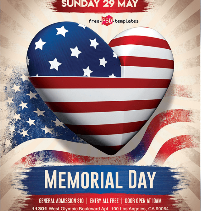 Memorial Day Flyer Template Free Download