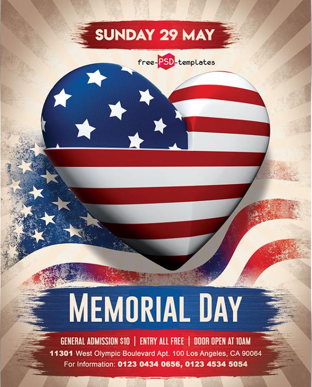 Memorial Day Flyer Template Free Download Responsive Joomla And