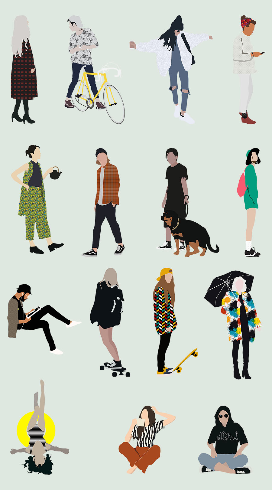 Pack Of Common People Illustration