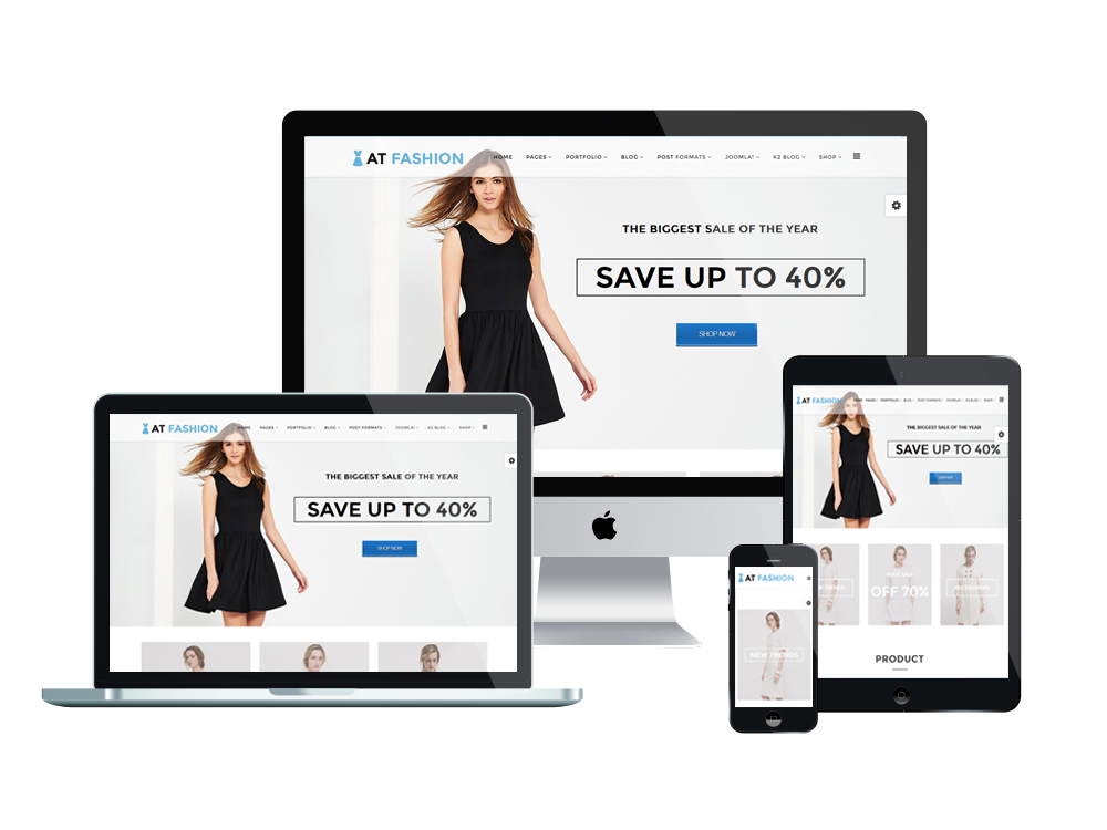 AT Fashion Shop – Fashion Store / Clothes Shop Joomla template