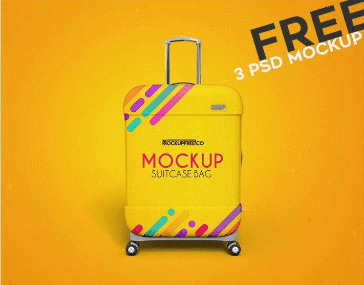 Suitcase Bag PSD MockUp