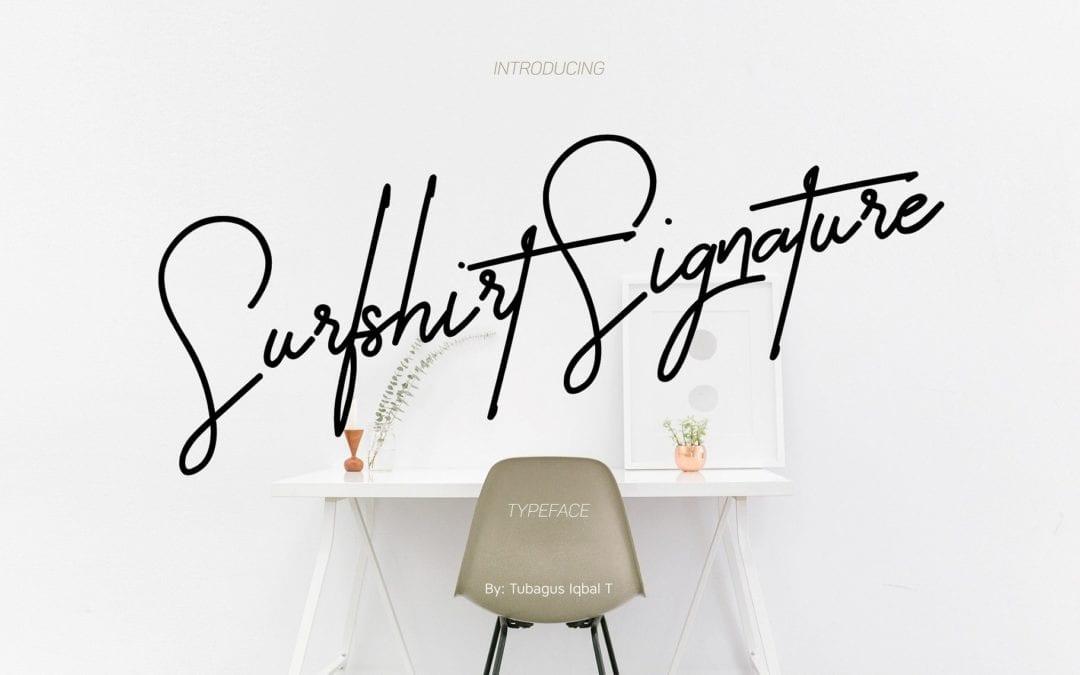 Surfshirt Signature Script Font