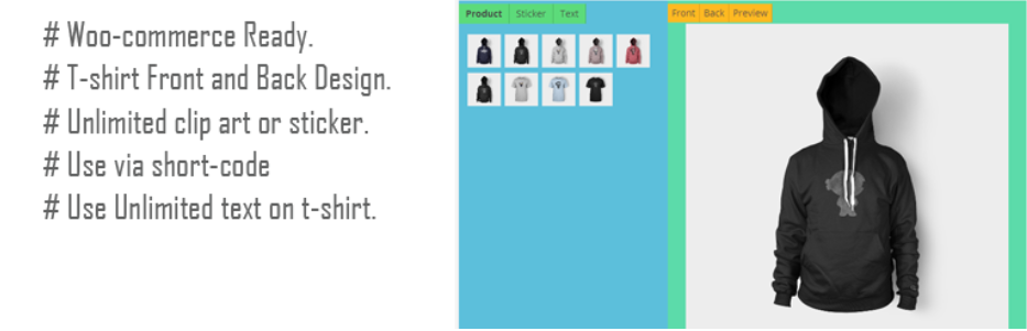Top best woocommerce product designer plugin in 2018 for T shirt designer plugin