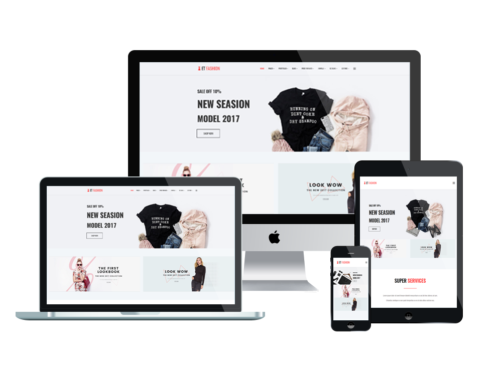 ET Fashion – Free Responsive Fashion Website template