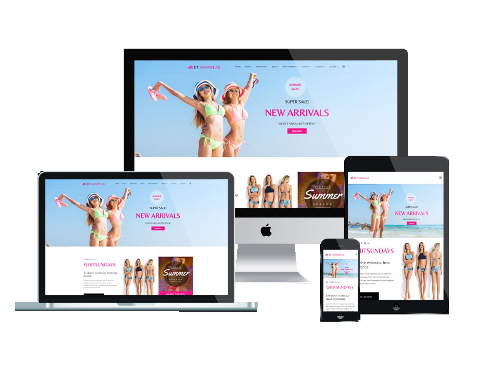 1. ET Swimwear – Free Responsive Swimwear Store Joomla! template