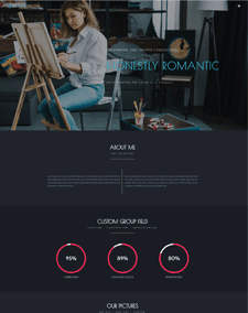 LT Artist Single Page – Free Responsive One page artist website template