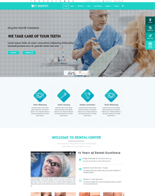LT Dentist Single Page – Free Responsive One page Dentist wordpress theme