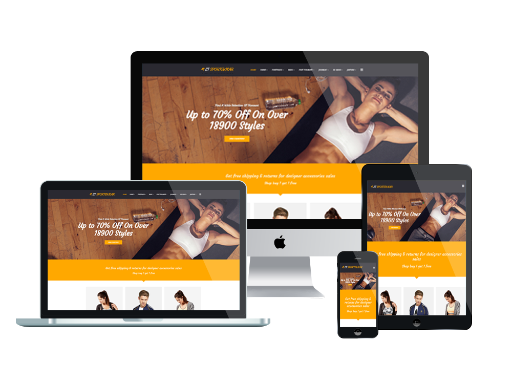 1. LT Sportswear – Free Joomla Sportswear/ Sports Website template