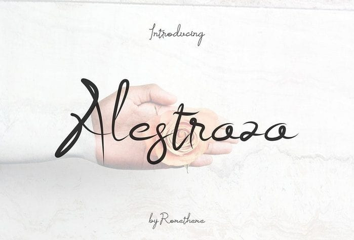 Alestraza Handwritten Brush Font