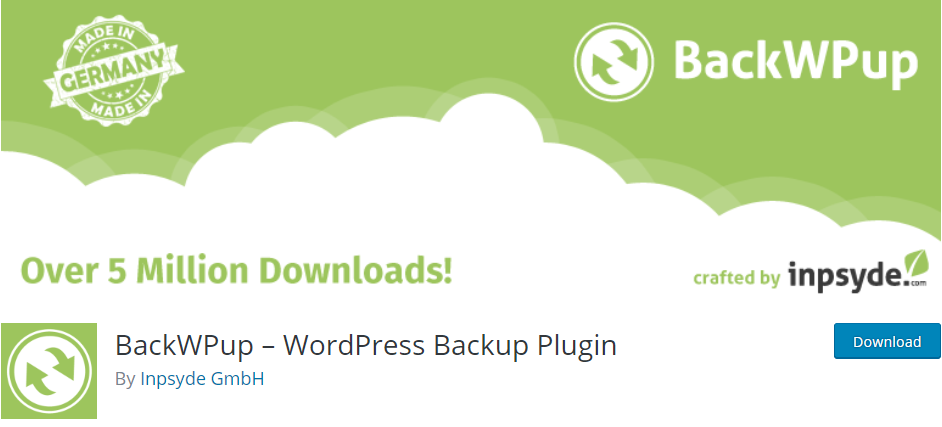 BackWPup - WordPress Database Backup Plugin