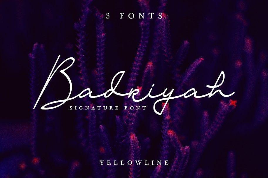 Badriyah Elegant Signature Font