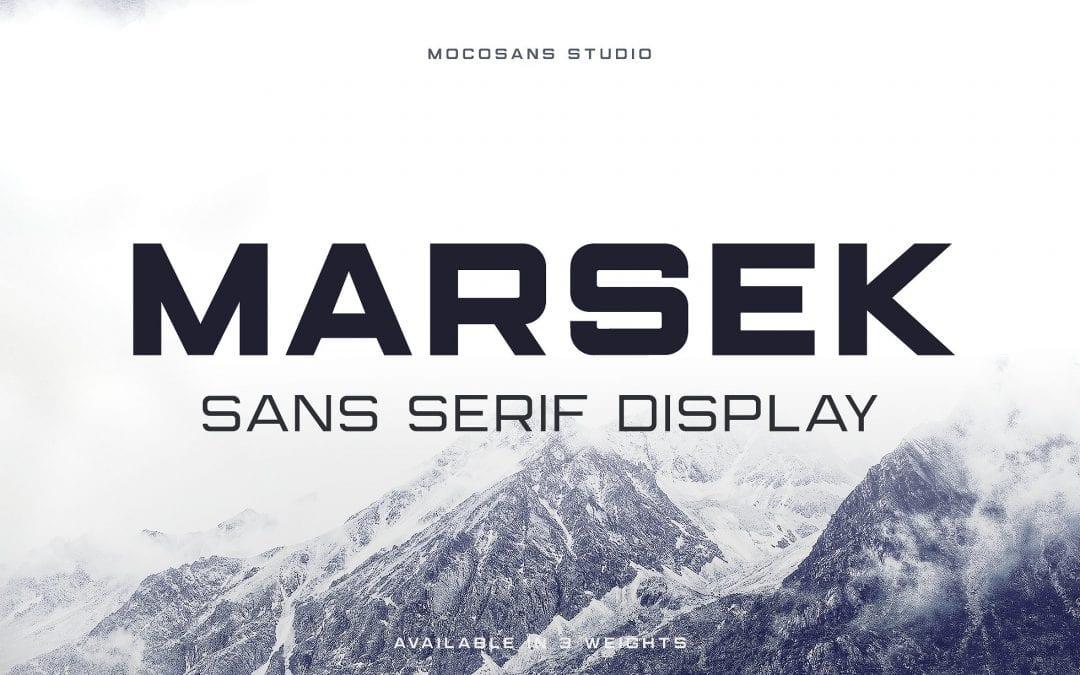 Marsek Free Sans Serif Font