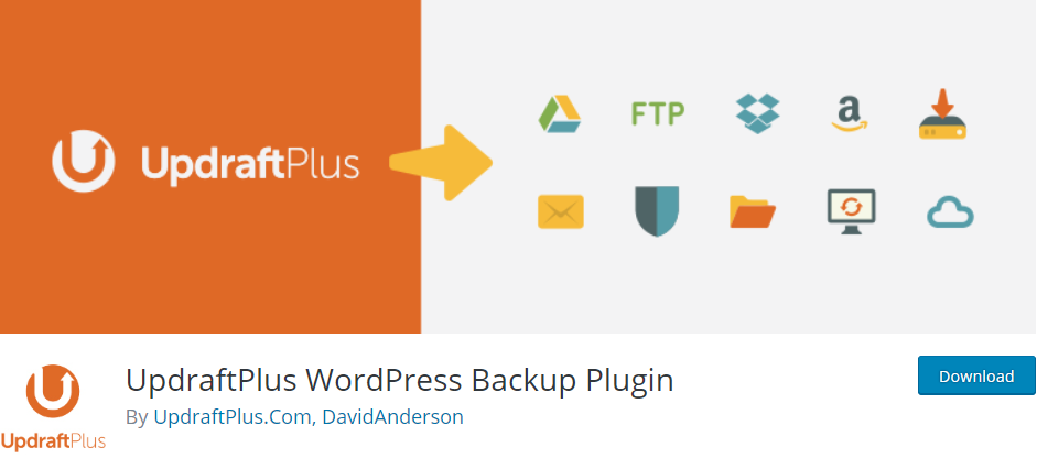 UpdraftPlus WordPress database Backup Plugin