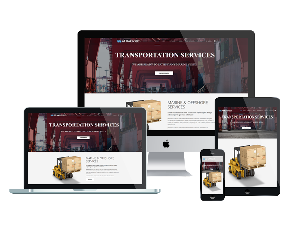 1. AT Marinser – Free Shipping / Maritime Company Joomla template