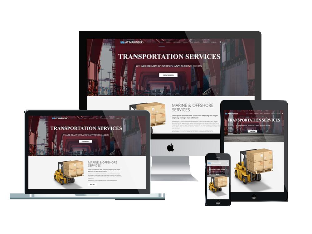 1. AT Marinser – Free Shipping / Maritime Company Joomla template