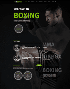 LT Boxing – Free Responsive WordPress Kickboxer theme