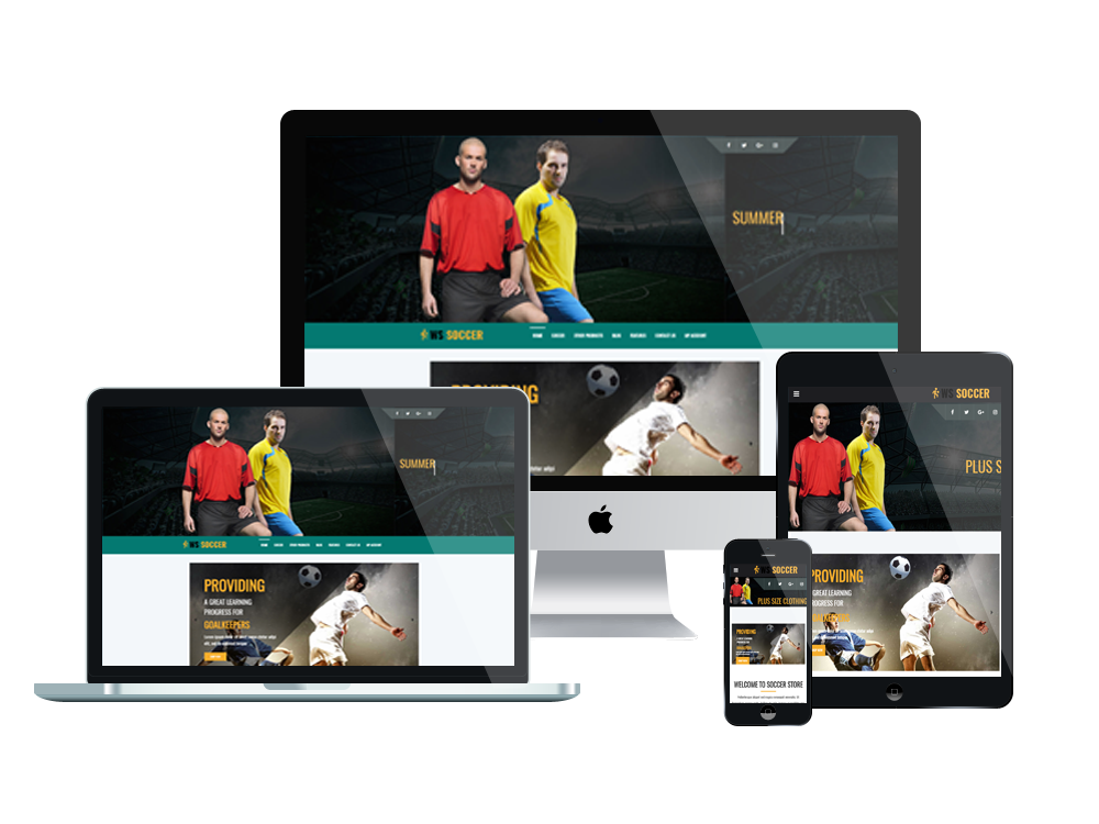 1. WS Soccer – Responsive Sport Clubs WooCommerce WordPress theme