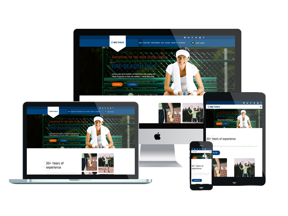1. WS Tennis – Responsive Tennis WooCommerce WordPress theme