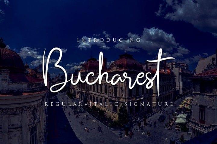 Bucharest Brush Script Typeface