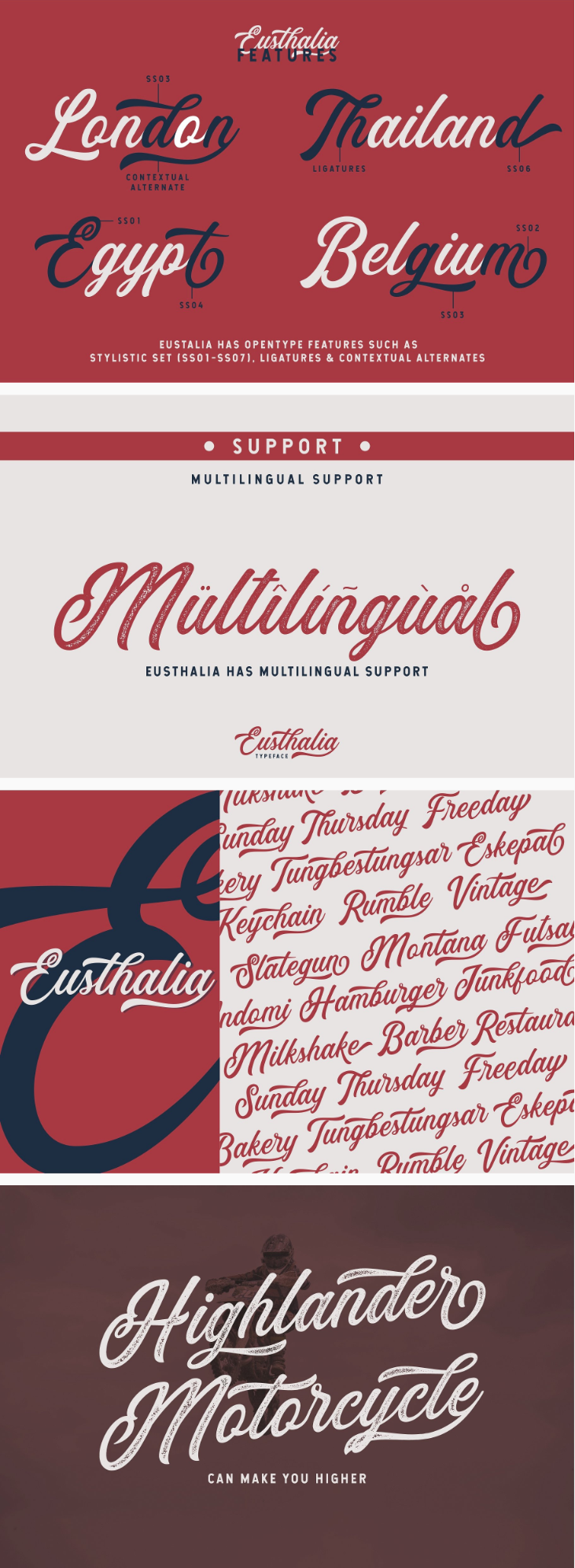 Eusthalia Modern Script Typeface