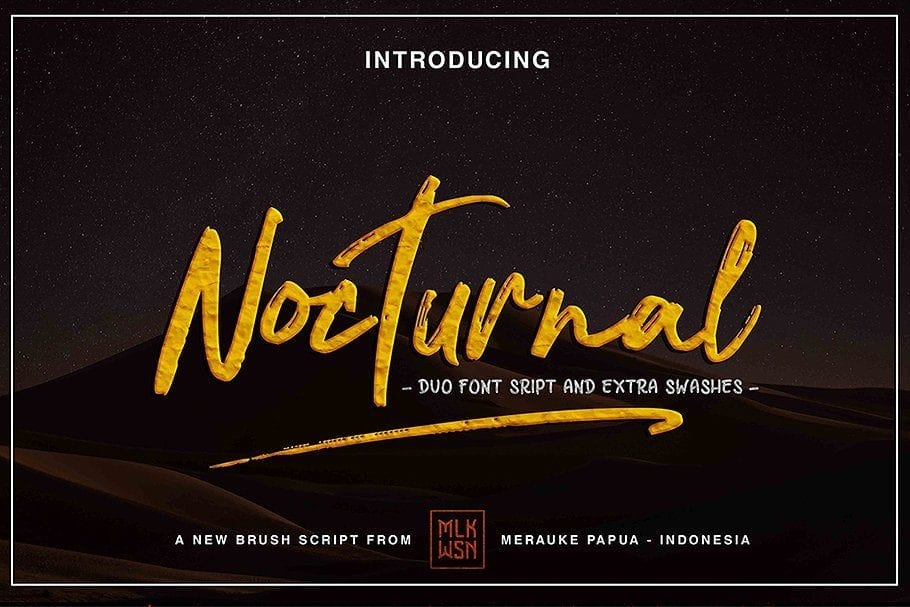 Nocturnal Brush Script Typeface
