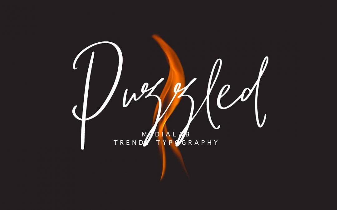 Puzzled Modern Script Calligraphy Font
