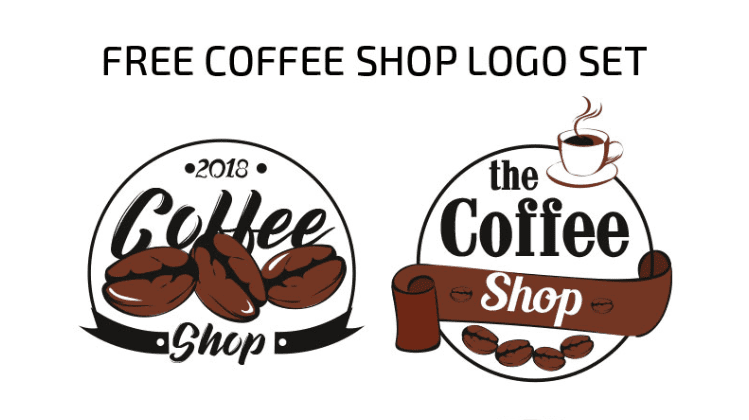 Set Of Free Coffee Shop Logo