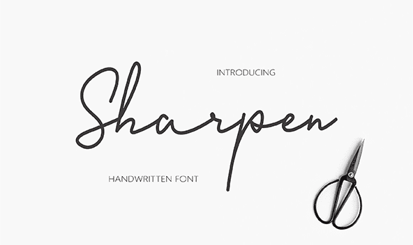 Sharpen Classy Handwriting Fonts