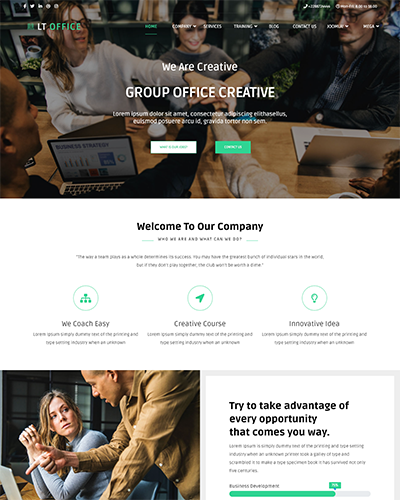 LT Office Onepage – Free Single Page Responsive Joomla Company theme