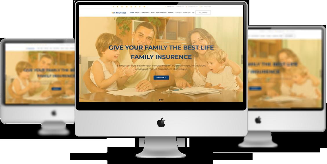 LT Insurance - Joomla! Insurance Agent Website Templates