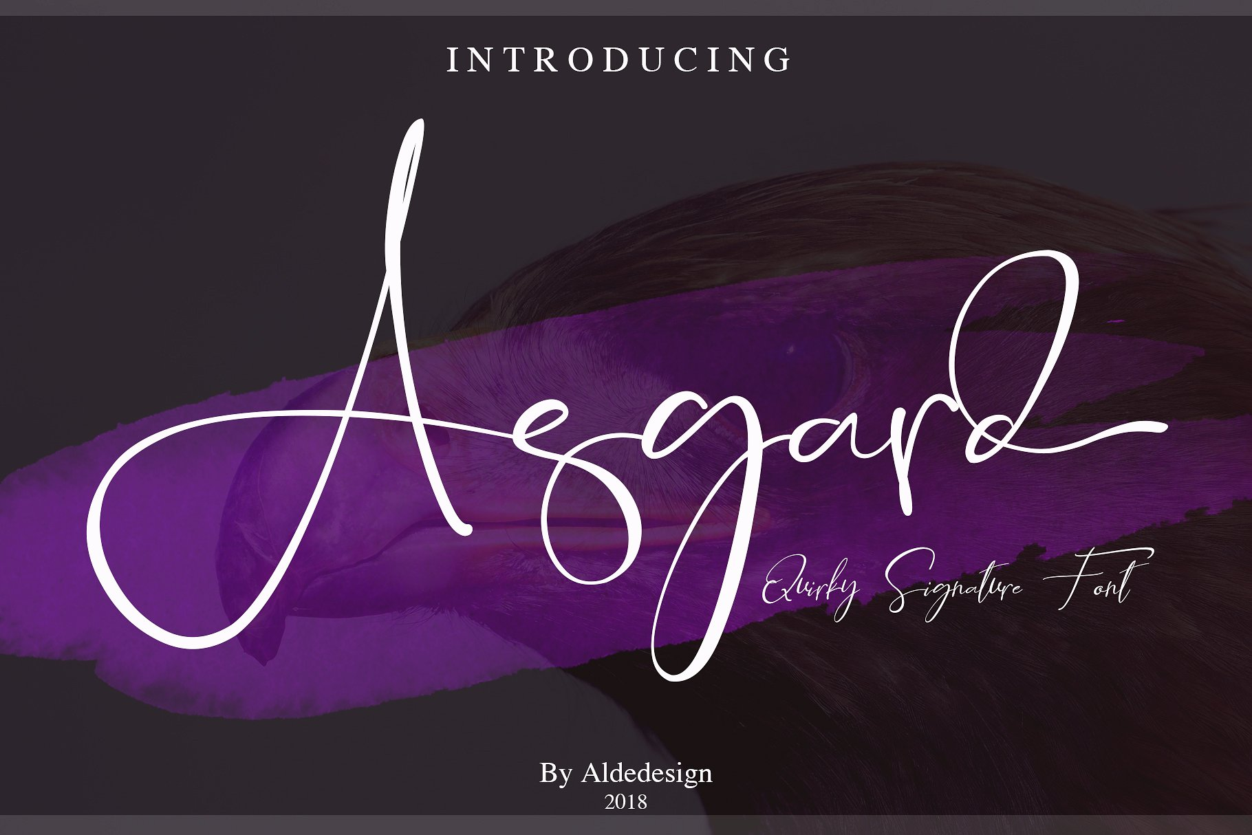 Asgard Free Signature Script Font