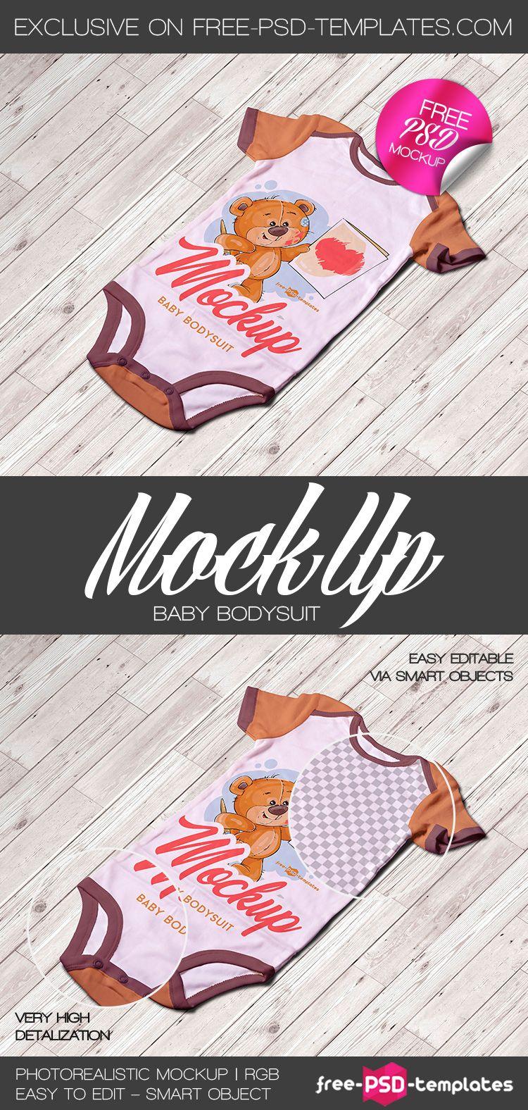 Baby Bodysuit PSD Mockup Template