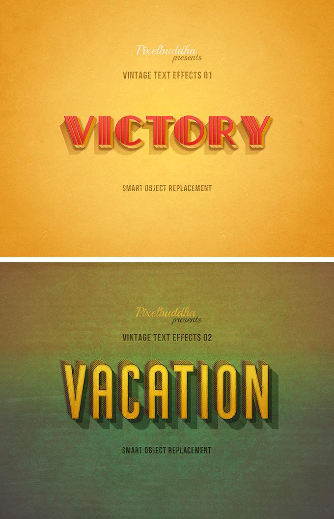 Free Authentic Vintage Text Effect