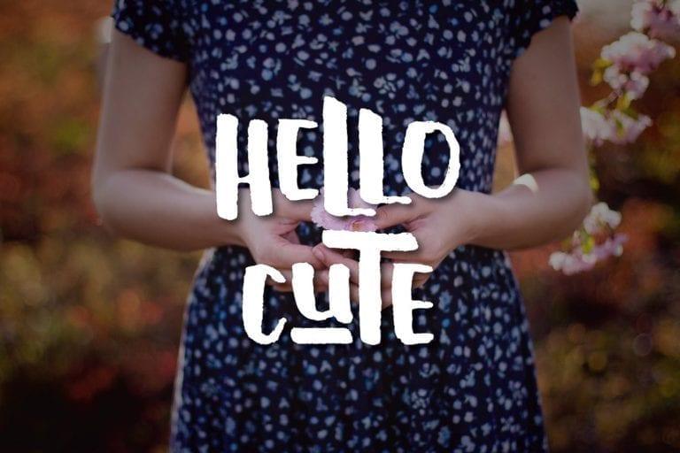 Hello Cute Handmade Font