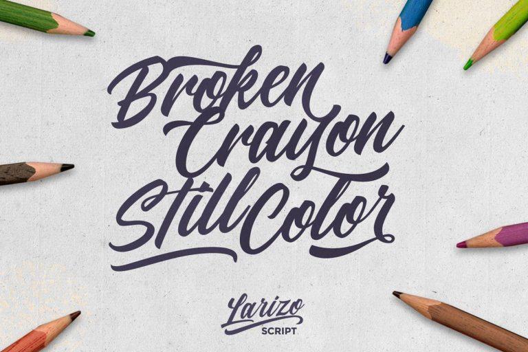 Larizo Modern Script Calligraphy Font