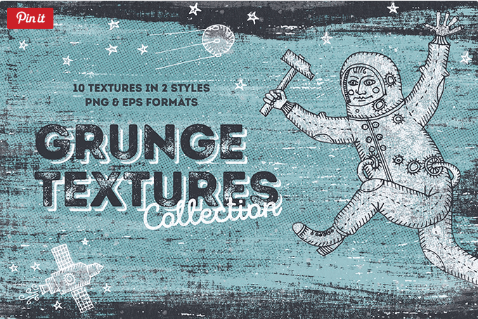 Set Of 10 Hand drawn Blackview Grunge Texture