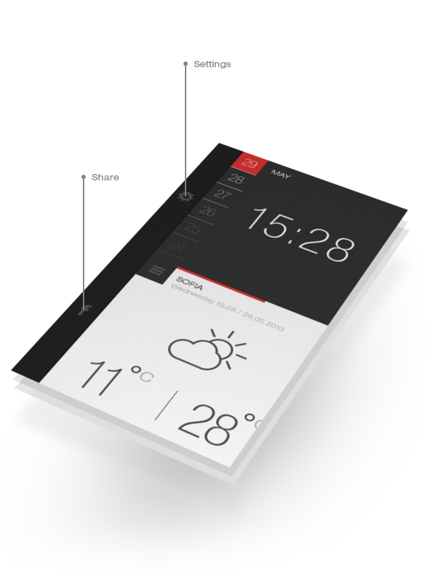 Weather & Time App MockUp PSD Template