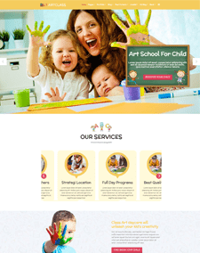 LT ArtClass Single Page – Free Responsive One page Painter WordPress theme