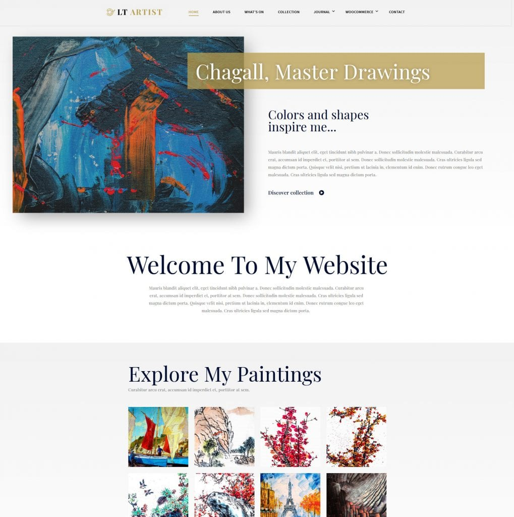 LT Artist WordPress theme