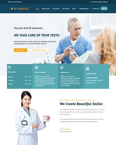 LT Dentist – Free Responsive medical wordpress theme