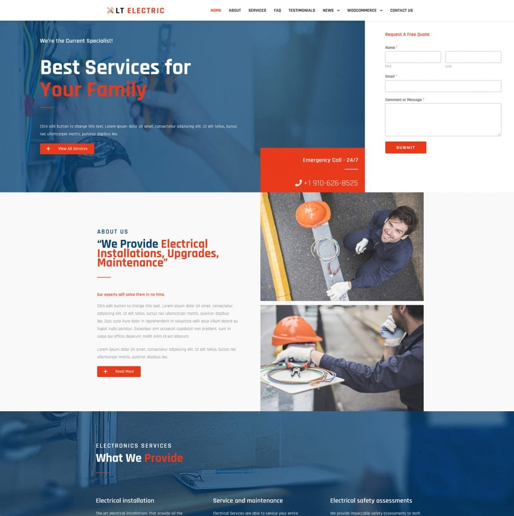LT Electric WordPress theme