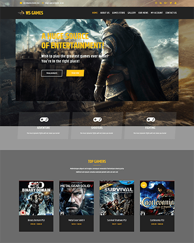 WS Games – Responsive WordPress Gaming Theme