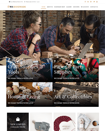 WS Handmade – Responsive Handicraft wordpress theme