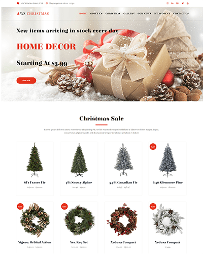 WS Christmas – Responsive Christmas WooCommerce WordPress theme