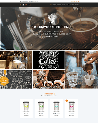 WS Coffee – Responsive wordpress coffee shop themes