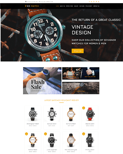 WS Watch – Responsive Watch WooCommerce WordPress theme
